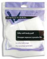 "Victoria Vogue 4-1/8"" Dbl hi-pile Dusting Puff w/ ribbon"